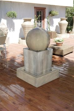 Obtuse With Ball Garden Water Fountain