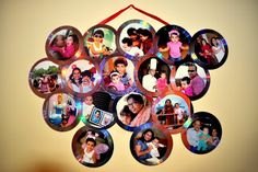 Photo Collage with old Cd/DVDs