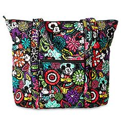 Mickey's Magical Blooms Vera Tote by Vera Bradley | Disney Store Mickey and Minnie's romance blossoms among the colorful Magical Blooms…