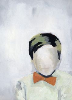 Lisa Golightly, Boy in Orange Bow Tie - Paintings - Art - Art & Mirrors Art And Illustration, Illustrations, Figure Painting, Painting & Drawing, Painting Inspiration, Art Inspo, Figurative Kunst, Love Art, Art Drawings