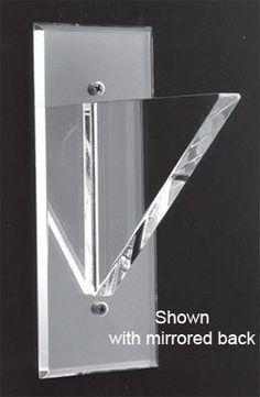 Clear Back Solid Style No Lip Acrylic Shelf Support - 6 in - Pair by Mirart. $88.78. These are our strongest brackets. Shelf rests on bracket with back flush against the wall. Available in Mirror or Clear Back These beautifully designed acrylic shelving supports enhance mirror installations or form shelving support systems. Brackets come with screws, plastic anchors, and screw covers to hide screw heads for total mirror look. Shelf Size: 6 in