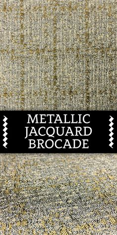 Metallic Geometric Jacquard Brocade in Silver and Gold Textile Pattern Design, Textile Patterns, Print Patterns, Textiles, Different Types Of Fabric, Kinds Of Fabric, B And J Fabrics, Fabric Names, Witches