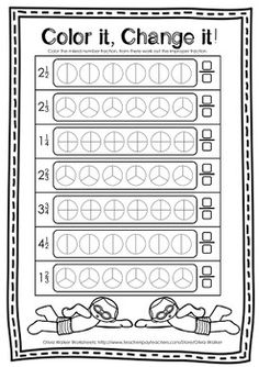 Improper and Mixed Number Fractions -. by Olivia Walker Improper Fractions, Fractions Worksheets, Number Worksheets, Teaching Tools, Teaching Math, Maths, 5th Grade Math, Math For Kids, School Lessons