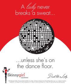 A lady never breaks a sweat...