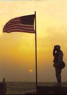 USA Flag Salute