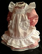 Puppenkleid Schürzenkleid 25cm