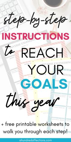 Are you tired of making goals and resolutions every year and not seeing them become New Year Planning, Goal Planning, Achieving Goals, Achieve Your Goals, Free Printable Worksheets, Free Printables, Goal Setting Activities, Holistic Approach To Health, Time Management Strategies