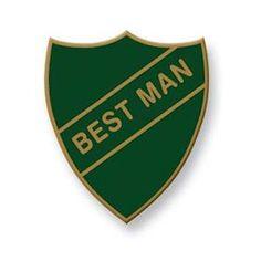 Best Man  - Old School Vintage Badge