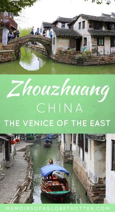 """Zhouzhuang Water Town is a town near Shanghai, China that is famous for its canals and bridges. It is often called """"the Venice of the East"""". Since Zhouzhuang is surrounded… China Travel Guide, Asia Travel, Vietnam Travel, Travel Usa, Visit China, Travel Guides, Travel Tips, Travel Books, Travel Stuff"""