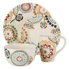 Zinnia Round 16-pc. Dinnerware Set | Shop home | Kaboodle Molly & Mike Dinnerware