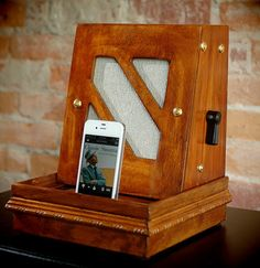 ipod iphone charging station with speakers from by Relectronics, $175.00