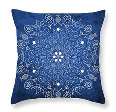 Mandala Throw Pillow Mandala Sofa Pillow by PatLintnerFineArt