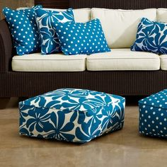 Canvas Stripe Floor Pillow by Jonathan Adler at Gilt   POUFS and ...