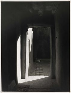 Todd Webb, Door to Patio, O'Keeffe's House, Abiqui, New Mexico, 1981. Thank you, yama-bato.