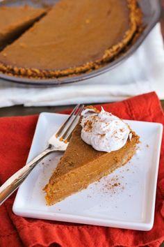 Healthy vegan pumpkin pie