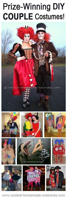 Top 10 Contest-Winning Halloween Couples Costumes Halloween Costume Contest, Halloween Diy, Homemade Costumes, Digital Marketing, Captain Hat, Halloween Crafts