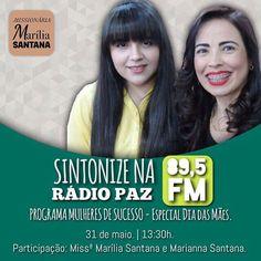 Hoje vai ser assim ... Com minha Rainha @missmariliasantana e minha Princesa @marianna_0216 . Sintonize a melhor e maior Rádio @pazfmoficial by macivonfonseca http://ift.tt/1qZQNcb