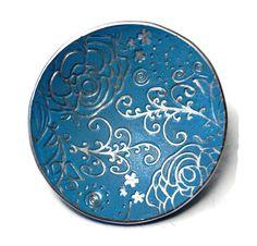 Wedding Ring Dish- Handmade Ring Dish- polymer clay Bowl- Personalized Ring Dish- Engagement Ring Dish - pinned by pin4etsy.com