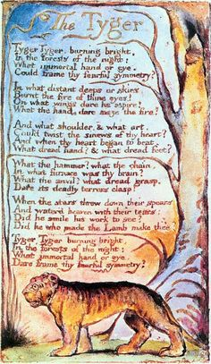 Poem of William Blake: The Tyger