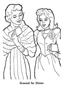 2003 Best barbie coloring pages images | Barbie coloring ...