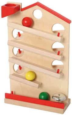 circuit de boules en bois - Coccinelle Boutique Wood Toys, Circuit, Deco, Triangle, Games, Boutique, Afin, Wooden Toy Plans, Cars