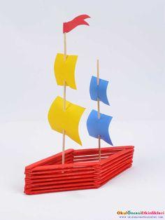 Yüzen Yelkenli Yapımı - OKUL ÖNCESİ ETKİNLİKLERİ - Hayallerinizi Sınırlamayın