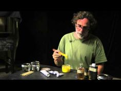 ▶ how to thin down oil paint with medium - YouTube He mixes his whole tube of oil paint a head of time then stores it in small canning jars..ready to go painting with slow dry medium.