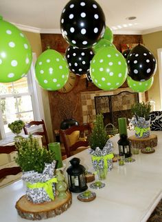 green and black party | two of my favorites! www.makeitrane.com