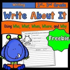 This FREE worksheet has students using their imagination about the monster. They answer who, what, when, where, and why questions about the picture. Then they use the information in their answers to write about it.