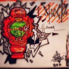 G-Shock artwork from our Instagram fan 'youngposka' Share your G-Shock Artwork! Upload to Instagram and hashtag #gshocksummer.