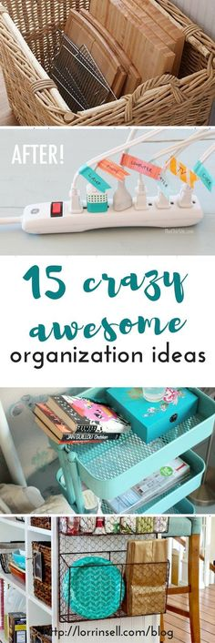 I am definitely not the most organized person, and these organization ideas are awesome! i can't wait to try some of these out!