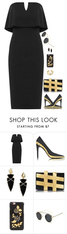 """Untitled #6429"" by miki006 ❤ liked on Polyvore featuring WearAll, Balmain, BaubleBar, Charlotte Olympia, Dolce&Gabbana and Belk Silverworks"