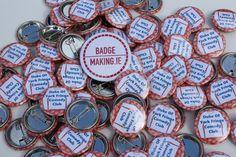 Badges for the Duke of York Fringe Comedy Club — BadgeMaking.ie - Ireland's Badge Experts Duke Of York, Belfast, Badges, Comedy, Club, Printed, Badge, Prints, Comedy Theater