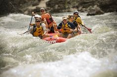 White Water Rafting in Rapids of Deschutes River, Oregon USA