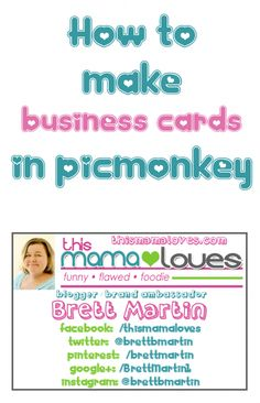 How to Make Business Cards in PicMonkey Make Business Cards, Craft Business, Business Tips, Emperors New Groove, How To Start A Blog, How To Make, Blog Tips, Social Media Tips, Facebook