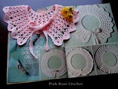 Pink Rose Crochet: Gola de Crochê Rosália Crochet Collar