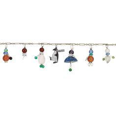 Estate of Consuelo Vanderbilt Earl | Two Art Deco Platinum, Gold, Pearl, Diamond and Gem-Set Charm Bracelets