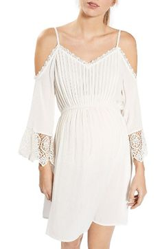 Free shipping and returns on Topshop Cold Shoulder Maternity Sundress at  Nordstrom.com. Pintucked b7699c4f3