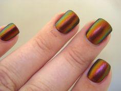 Goose's Glitter: Sally Hansen Nail Prisms Amber Ruby Swatch