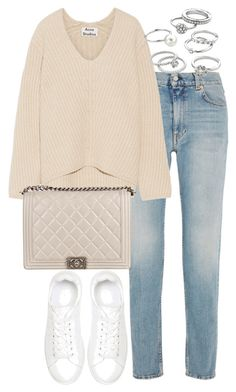 """""""Untitled #2601"""" by theeuropeancloset ❤ liked on Polyvore featuring Acne Studios, Anine Bing, Chanel and Candie's"""