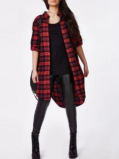 Maxi Camisa Xadrez Plus Size - Ref.1026