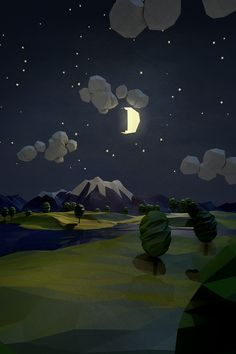 How can I achieve this textured super low poly look in Maya? - Polycount Forum