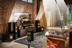 The Klipsch Dolby Atmos Home Theater System delivers incredible acoustic clarity for a premium listening experience. Shop home theater now. Home Theater Room Design, Home Theater Rooms, Cinema Room, Best Hifi, Home Theater Surround Sound, Ceiling Speakers, Audio Room, Surround Sound Systems, Dolby Atmos