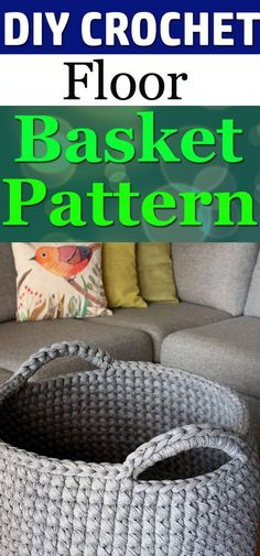 Learn how to make this Floor Basket with our free crochet pattern, it's fun and easy to follow!