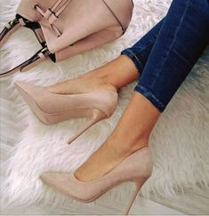 Boots are really stylish and there is wide option from flat-heels to stilettos, wedges, and platforms, boots are everything in between. High Heel Pumps, Stilettos, Pumps Heels, Stiletto Heels, Nude Pumps, Heeled Sandals, Cute Heels, Lace Up Heels, Classy Heels