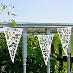 8M White Lace Paper Bunting Heart Flower Banner Garlands Wedding Party Decor in Home, Furniture & DIY, Celebrations & Occasions, Party Supplies | eBay