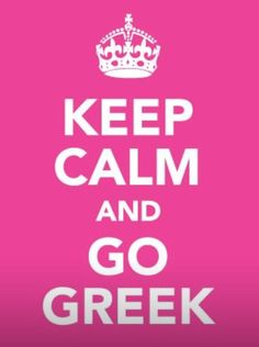Greek life..hope to be apart of it one day