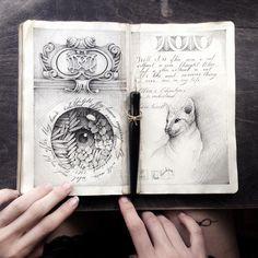 """3,475 Me gusta, 19 comentarios - Lena Limkina (@limkina) en Instagram: """"Ink • Moleskine • Love • #limkina_sketches"""""""