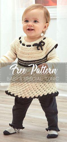 Baby's Special Tunic – Free Crochet Pattern – Crochet Love