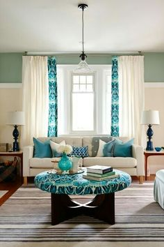 I want these colors in my living room.